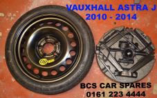 VAUXHALL ASTRA J    SPACE SAVER WHEEL INC TYRE  + TOOL KIT  ( 115/70/16 )